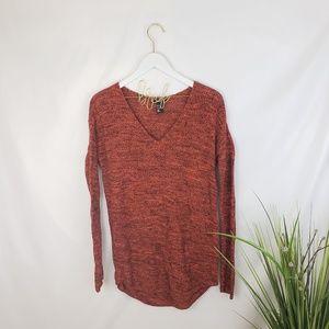 H&M Orange and Black Oversized Knit Sweater XS